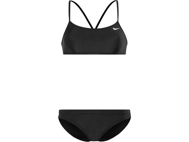 Nike Swim Solid Racerback Bikini Top- & Broekje Dames, black/black